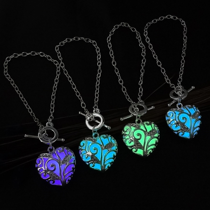 Fashion Women's stone shine moon Charm Luminous Bracelet Stone  fashion wholesale jewelry braceletS 1