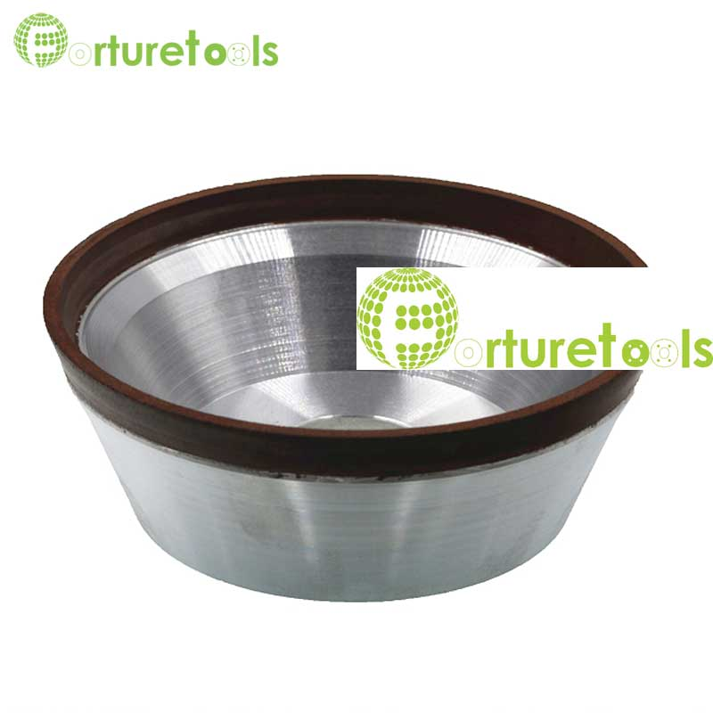 Flaring cup diamond grinding wheel bowl shape diamond abrasive wheel for tungsten carbide hard alloy E024 цены