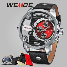 WEIDE mehanical hand wind quartz sports wrist watch casual genuine water resistant analog watch leather sport men luxury Big dia weide clock luxury quartz watches men white sports electronic watch leather strap watchbands mehanical hand wind water resistant