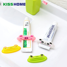 2pc/lot Cute Animal Toothpaste Tube Squeezer Easy Squeeze Paste Dispenser Roll Holder Cartoon Frog/Cat/Frog/Panda/Pig