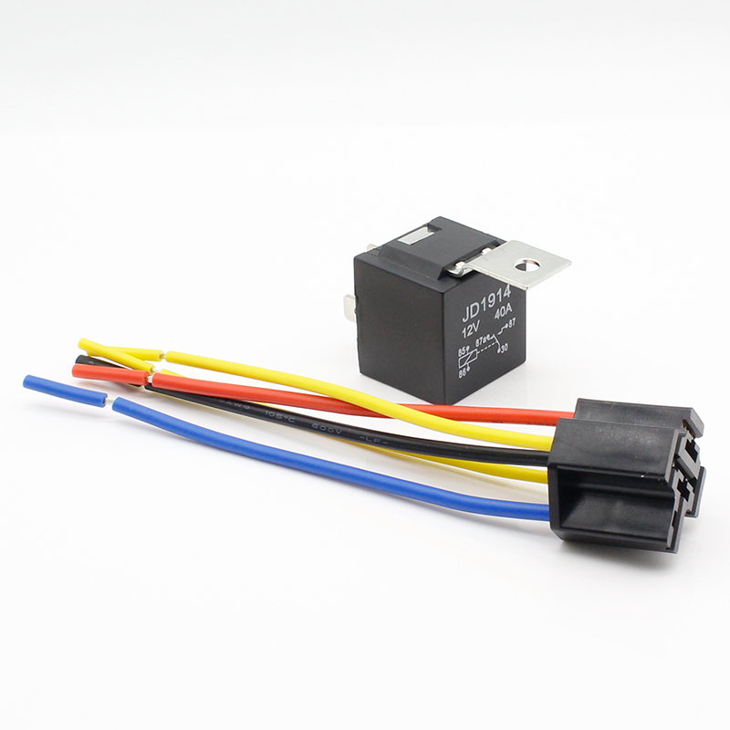 5p Vehicle-Mounted Black Relay Waterproof 24V 10A