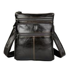 купить New Fashion Real Leather Male Casual messenger bag Satchel cowhide 8