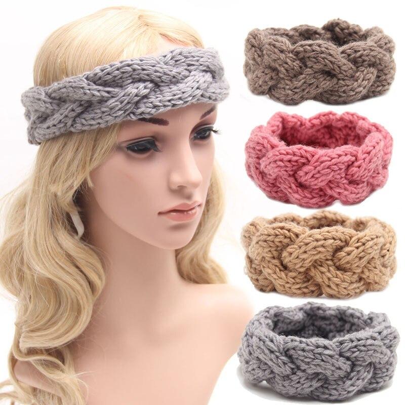 Knitted Headband Knit Hair Band Turban Headband Knitted Ear Warmer ...