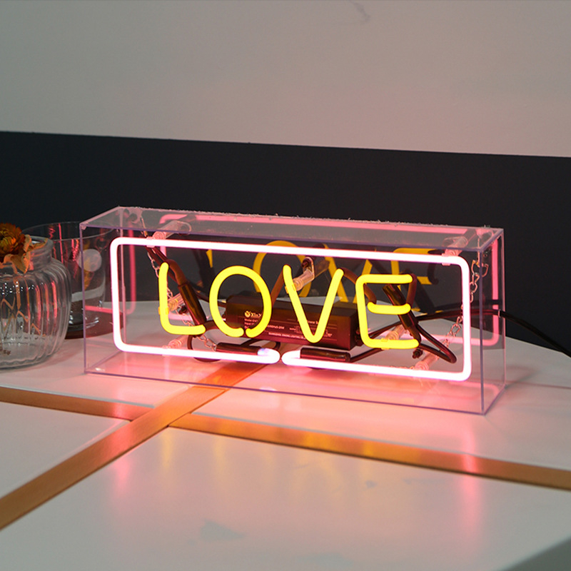 8 Kind LED Neon Lights Neon Sign Panel Lights Christmas Xmas Party Colorful Glass Neon Acrylic Box for Home Room Bar Decoration in Neon Bulbs Tubes from Lights Lighting