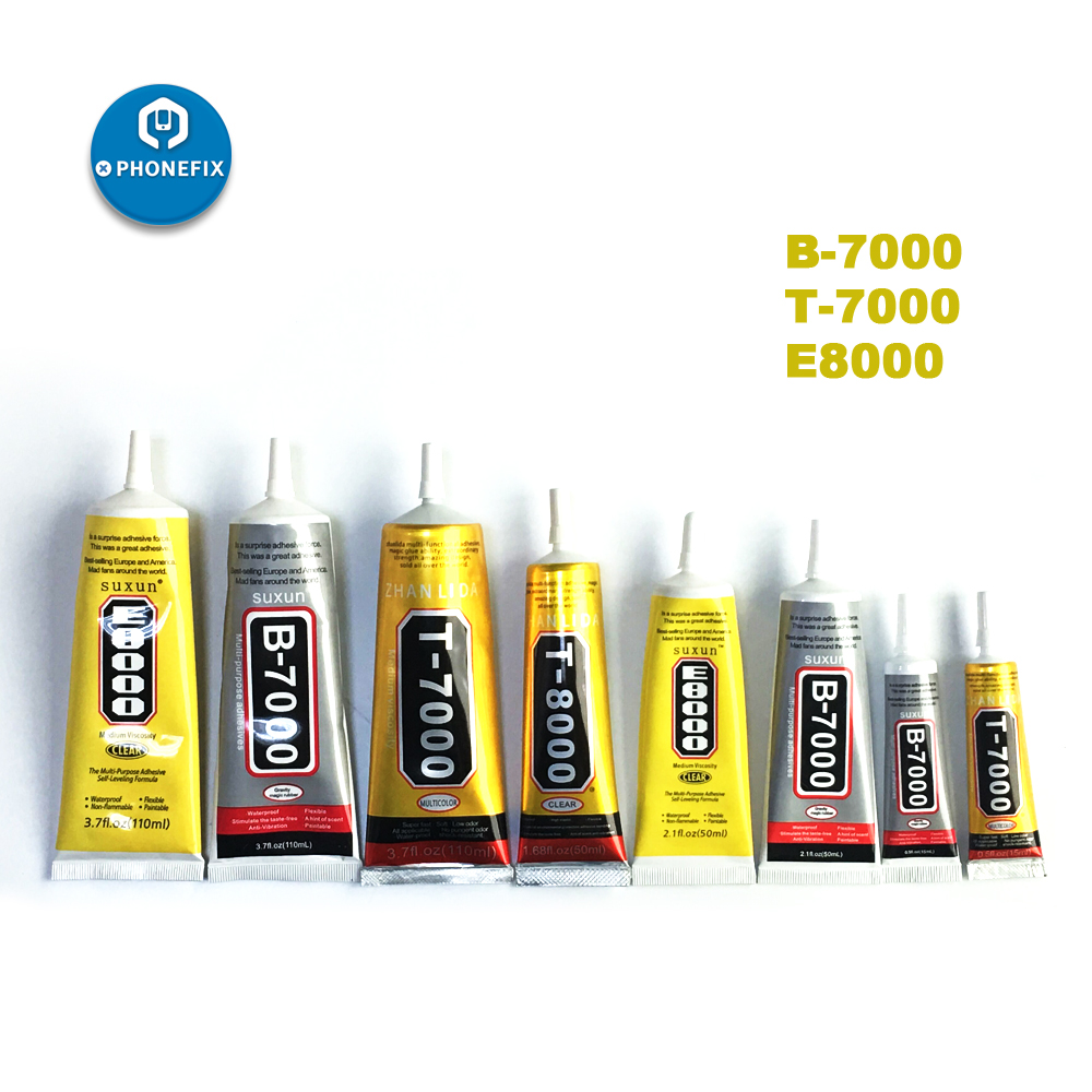 PHONEFIX Multi-Purpose Mobile Phone Screen Adhesive Clear Liquid Glue B7000 <font><b>B8000</b></font> T7000 T8000 Super Glue DIY Mobile Phone Sets image