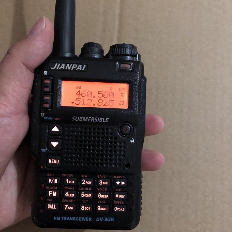 UV 8DR walkie talkie 2350mAh battery dual band 136 174/400 520mhz 5W power with FM radio handheld portable VHF UHF walkie talkie-in Walkie Talkie from Cellphones & Telecommunications