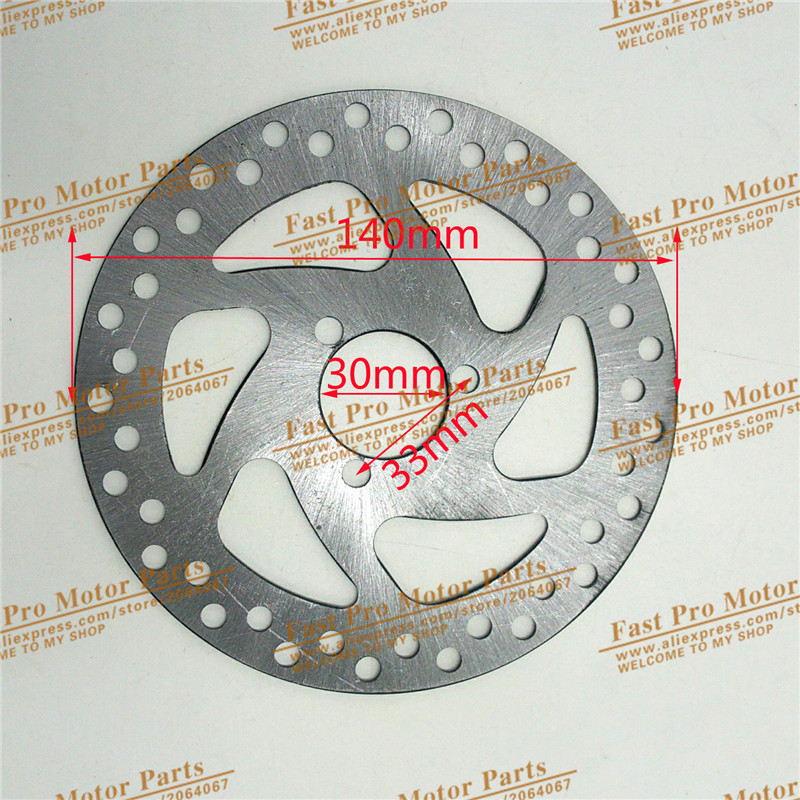 Gas Electric Scooter Brake Disc 140mm/120MM For 47cc 49cc 2 Stroke Pocket Bike Mini Dirt Bike ATV Quad Mini Motorcycle 47cc 49cc gas minimoto pocket bike mini dirt bike quad atv motorcycle 2 stroke complete alloy clutch pads springs free shipping