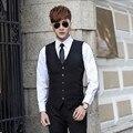 High quality groom tuxedos vest new style men suits vest elegant solid color  business formal occasions suits vest