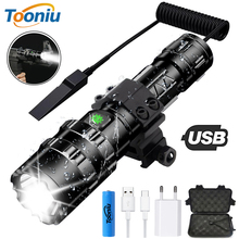 Ultra Bright LED Tactical Flashlight USB Rechargeable Waterproof Scout light Torch Hunting light 5 Modes by 18650 battery 16 xml t6 led 8000lm ultra bright waterproof flashlight torch 4 modes light by 18650 rechargeable battery for hungting fishing