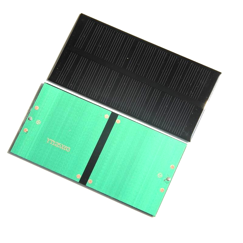 Promotion 200PCS/Lot 1W 6V Mini Solar Cell Monocrystalline Solar Panel Easy DIY Small Solar System Education Kits 125*63*3MM