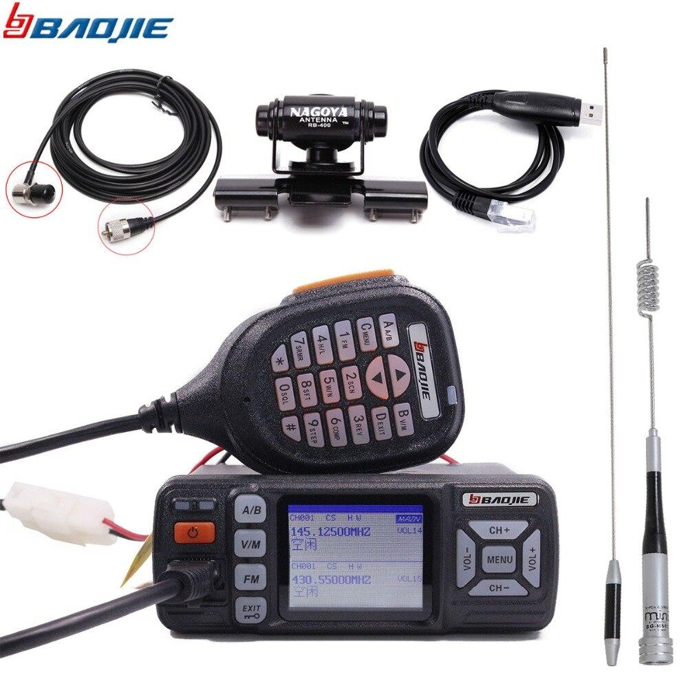Baojie BJ 318 Car Radio Walkie Talkie Dual Band VHF UHF Mobile Radio 20/25W 10 km Two Way Radio 10KM Upgrade of BJ 218 Z218-in Walkie Talkie from Cellphones & Telecommunications    1