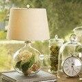 Round ball home lights table lamps bedroom bedside lamp modern home decoration glass flower vase decor table lights