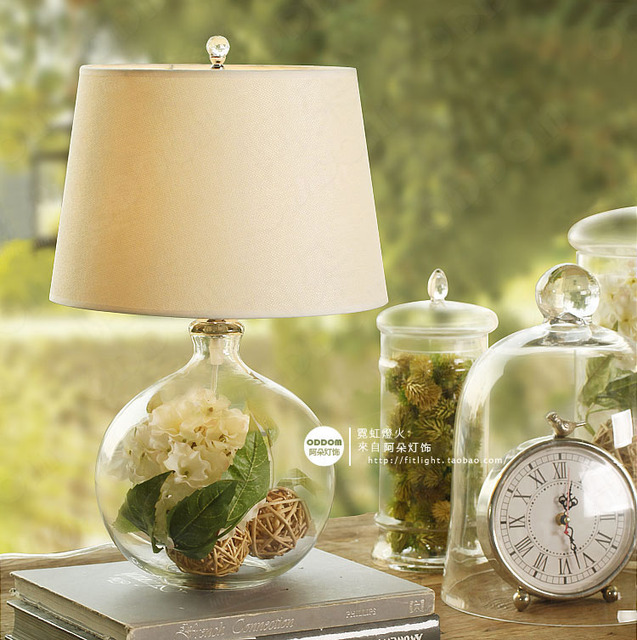 Round ball home lights table lamps bedroom bedside lamp modern home  decoration glass flower vase decor. Aliexpress com   Buy Round ball home lights table lamps bedroom