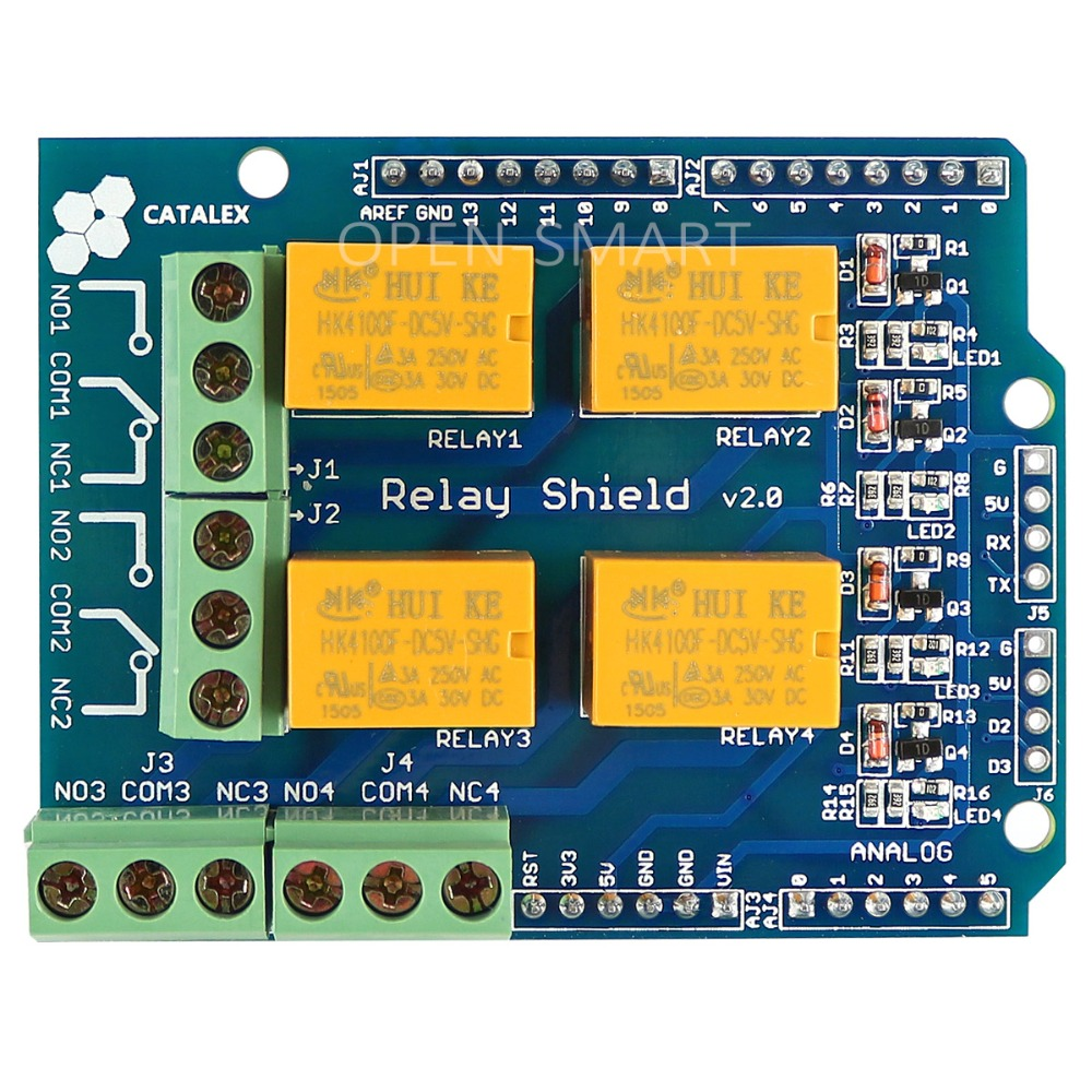 цена на Relay Shield v2.0 Relay Board 5V 4-Channel Relay Module w/ Serial Bluetooth interface for Arduino UNO / MEGA2560