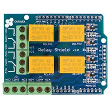 Relay Shield v2.0 Relay Board 5V 4-Channel Relay Module w/ Serial Bluetooth interface for Arduino UNO / MEGA2560