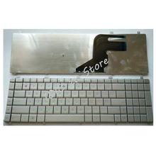 YALUZU teclado plateado con diseño ruso para ordenador portátil, teclado de repuesto plateado para Asus N55, N55S, N55SL, N55SF, N55X
