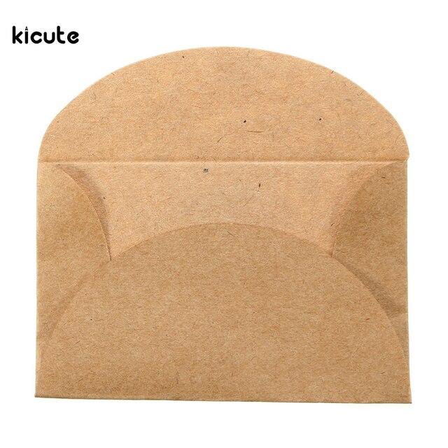 200 Pcs Vintage La Main Mini Kraft Papier Enveloppe Papeterie Cadeau Pour Partie De