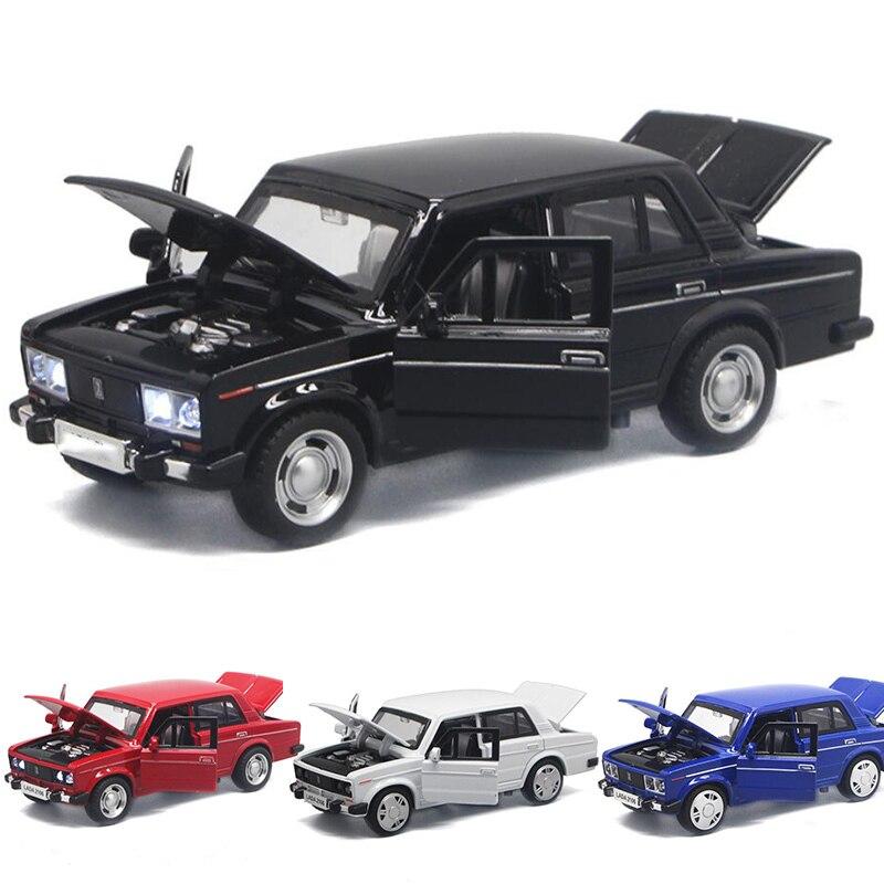 Автомобильная модель LADA из сплава, винтажная металлическая литьевая модель для автомобилей, разные цвета, 1:32, V035 Игрушечный транспорт      АлиЭкспресс