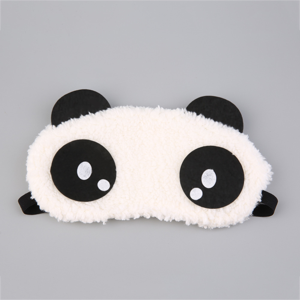 Sleeping Eye Cover Cute Design Plush Panda Face Eye Mask Travel Sleeping Soft Eye Masks Blindfold Shade Portable Relieve Stress