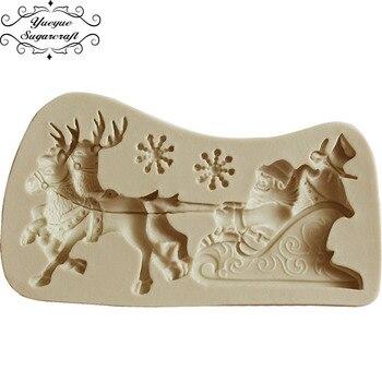 Yueyue Sugarcraft Arbol De Navidad Molde De Silicona Fondant Molde