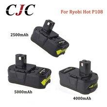 18V 2500mAh 4000mAh 5000mAh Li Ion For Ryobi Hot P108 RB18L40 Rechargeable Battery Pack Power Tool