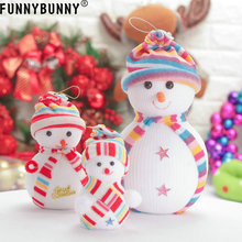 FUNNYBUNNY Christmas Snowman Doll Tree Hanging Ornament Home Decoration
