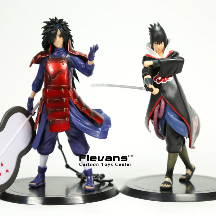 Anime Naruto Uchiha Madara Uchiha Sasuke PVC Action Figures Collectible Model Toys 2pcs/set anime naruto brinquedos action