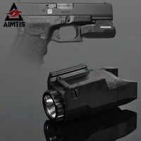 AIMTIS Kompakte APL Taktische Glock Pistole Licht Konstante/Momentary/Strobe Taschenlampe LED Weiß Licht Für Glock Schienen