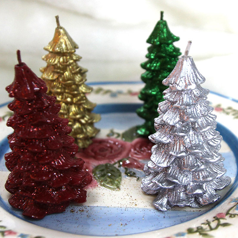 4pcs Pack Christmas Tree Candles Christmas