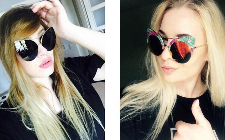 Printed Summer Cat Eye  Sunglasses 2