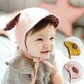 Coelho del oído orejas de conejo sombrero casquillo recién nacido del bebé recién nacido accesorios de fotografía infantil de algodón niñas nova fotografia nascido yeni beanie