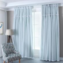 SunnyRain 1 Piece Double Layer Luxury Curtain For Bedroom Blackout Curtains For Children Room Living Room