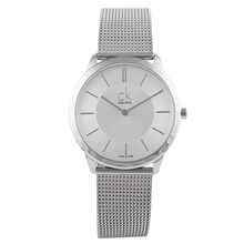 лучшая цена CalvinKlein Watch Braided Fashion Quartz Watch Men's and Women's Watches K3M21126