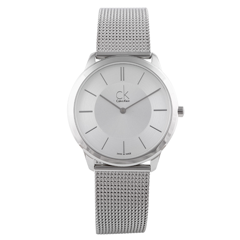 CalvinKlein zegarek pleciony pasek mody zegarek kwarcowy zegarki dla mężczyzn i kobiet K3M21126 w Zegarki kwarcowe od Zegarki na  Grupa 1