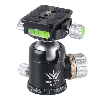 Matton Q36 Tripod Head and Quick Release Plate interface 1/4 & 3/8 inch For Manfrotto Gitzo RRS ARCA-SWISS KIRK Wimberley Benro