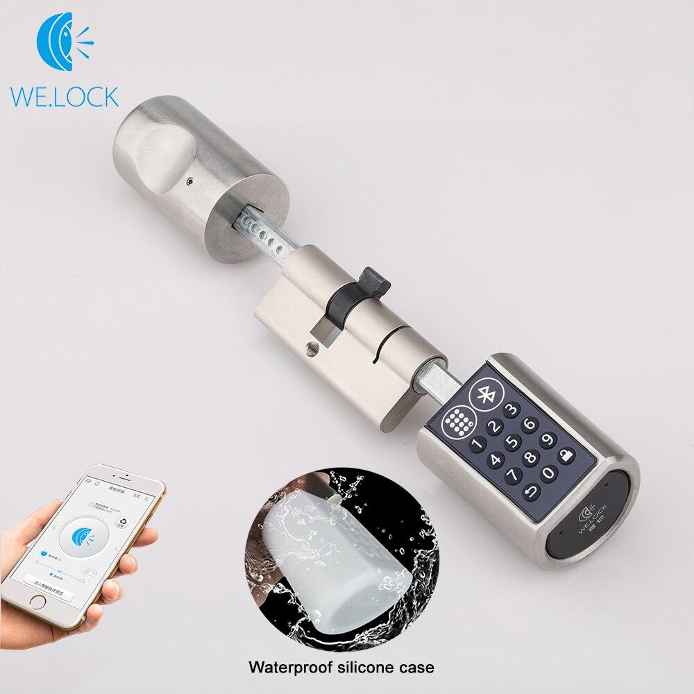 L6PB Adjustable Smart Electronic lock unlock by Password Bluetooth Hardware Lock Keyless EURO Lock Cylinder