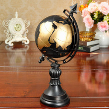цена на Fashion vintage globe resin decoration home accessories resin craft decoration globe decor home decoration table globe