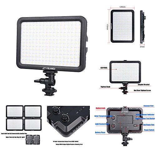 Mini LED panneau de gradation vidéo éclairage Photo pour appareil Photo reflex numérique lampe Dimmable pour Canon Nikon Sony caméscope DV DSLR Youtube