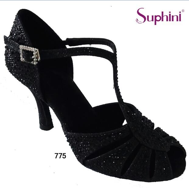 цена на Free Shipping  2017 Black Cystal  Latin Shoes Woman Salsa Dance Shoes 775