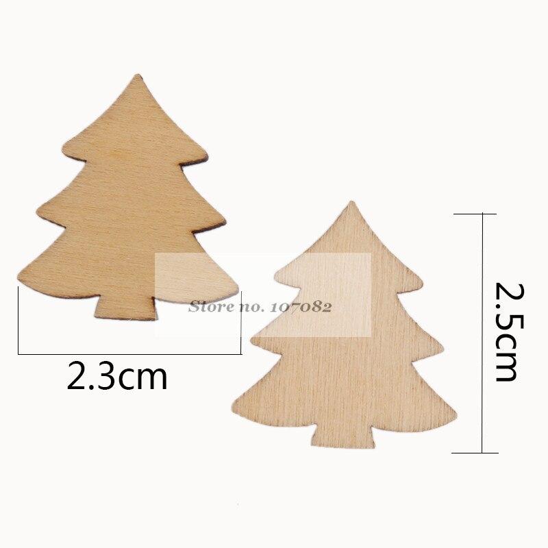 1000 stücke Natürliche Holz Weihnachten Baum Verzierungen Konfetti ...