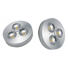 Free Shipping Dimmable 3X1W Warm White/Cold White Aluminum LED Cabinet Light puck light led down 1pcs/lot