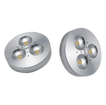 1PCS Free Shipping Dimmable 3X1W Warm White/Cold White Aluminum LED Cabinet Light puck light led down light 1pcs/lot цена 2017