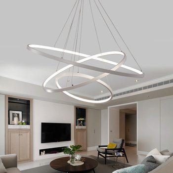 Modern LED Chandelier Hanging Lighting Lamps Staircase Chandelier Luxury Cristal Living Dining Room Home Decor Chandeliers Lamp