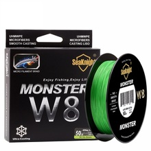 super 500M / 546YDS MONSTER W8 Braided Fishing Lines 8 Weaves Wire Smooth PE Multifilament Line for Sea Fishing 20-100LB