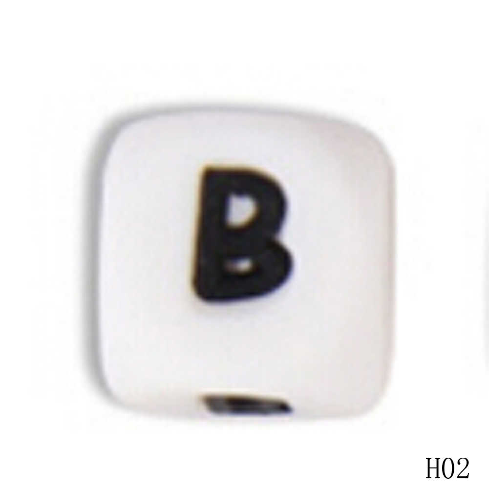 1 шт. милые детские силиконовые цепочка для прорезывателя Шарм DIY письмо бусины цепочки и ожерелья прорезывания зубов игрушка