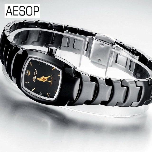 AESOP Luxury Watch Ceramic Strap wrist quartz Watches Newest Design for man and women black 3 ATM Water Resistant 9916