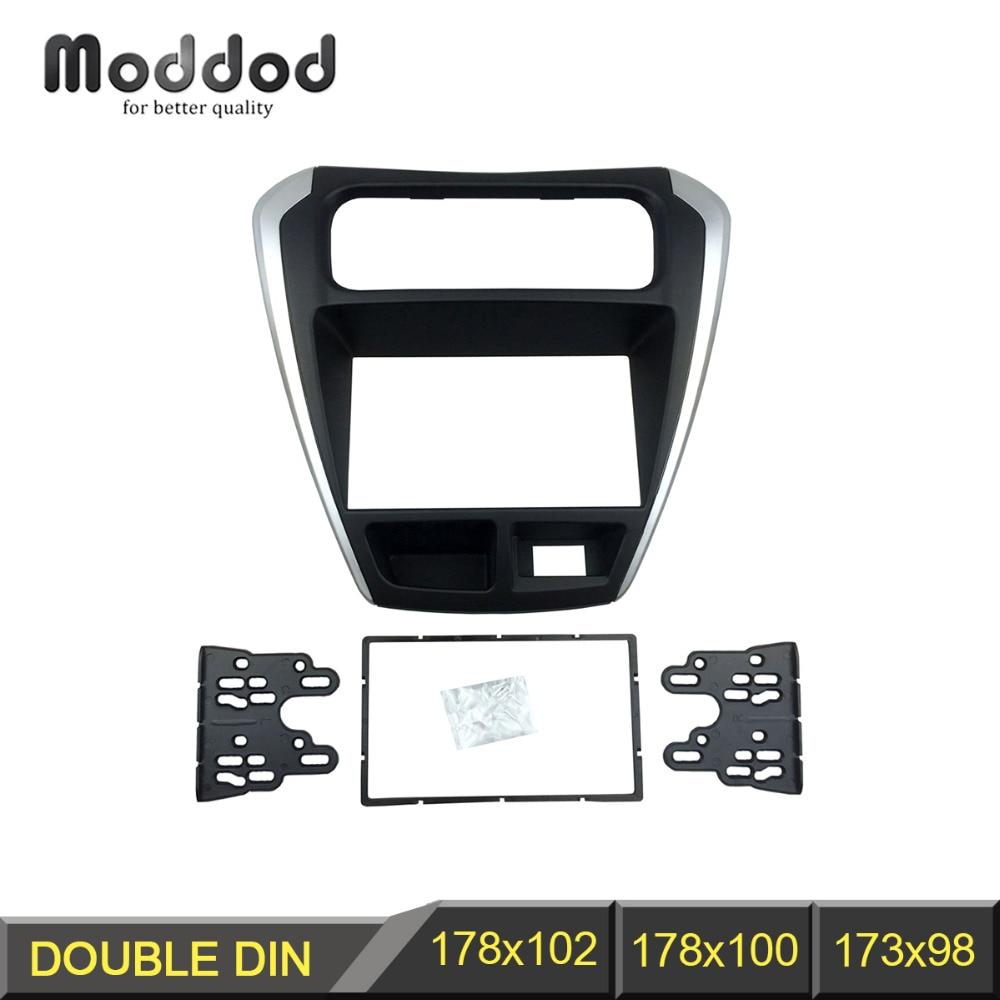 Double Din Fascia for 2014 Suzuki Alto 800 Radio DVD Stereo CD Panel Dash Mounting Installation Trim Kit Face Frame Bezel stereo panel for mazda 3 axela double din radio fascia refitting dash mounting installation trim kit frame