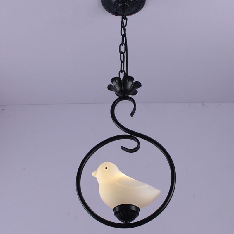 Creative Iron Interior Decorative Bird Chandelier Bedroom / Corridor LED Night Light Interior Lighting luminaire tw l0504 bird night light yellow