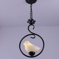 Creative Iron Interior Decorative Bird Chandelier Bedroom / Corridor LED Night Light Interior Lighting luminaire