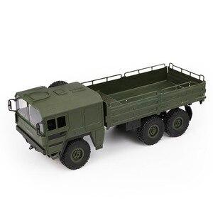Image 1 - JJRC Q64 1:16 6WD telecomando camion militare sospensione off road del veicolo rc auto off road arrampicata auto